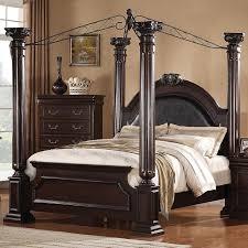 monticello bedroom set acme furniture roman empire 21334ek king canopy bed furniture