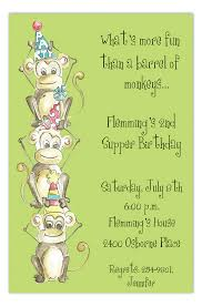 Jungle Birthday Card Jungle Gym Party Monkeys Invitation Polka Dot Design