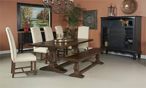 Two Pedestal Dining Table Coast To Coast Imports Woodbridge Double Pedestal Dining Table 5