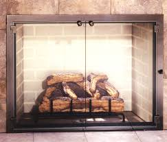 simple modern glass fireplace doors popular home design fancy to