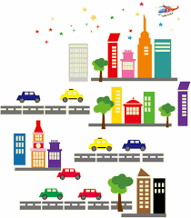 online get cheap cityscape wall aliexpress com alibaba group supply new fluorescent stickers removable stickers luminous cityscape baby kids cartoon house decorative wall stickers 85