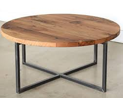 round wood and metal end table parquet reclaimed wood stunning round coffee table wall decoration