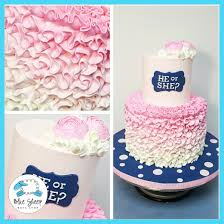 reveal baby shower pink and blue ruffle gender reveal baby shower cake nj