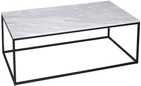 white rectangle coffee table white rectangular marble coffee table with black base
