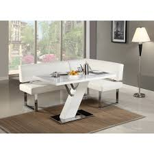 chrome dining room sets christopher knight home leah gloss white chrome dining table white