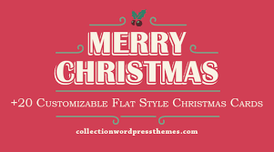 20 customizable flat style cards