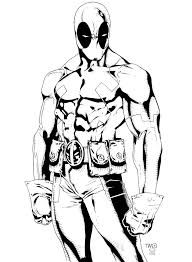 deadpool coloring pages cartoon deadpool coloring page free
