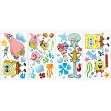Spongebob Room Decor by Roommates Spongebob Squarepants Peel And Stick Wall Decals