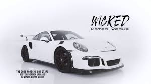 Porsche 918 Body Kit - wicked motor works porsche 991 gt3 rs body conversion and carbon