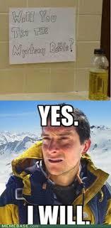Meme Bear Grylls - bear grylls