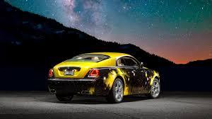 yellow rolls royce nfl star antonio brown u0027s rolls royce wraith gets a crazy space