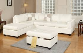 White Italian Leather Sectional Sofa Living Room Italian Leather Modern Sectional Sofa With Ottoman