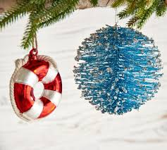 coastal cheer ornaments pottery barn au