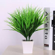 artificial fake plastic green grass plant flowers office home