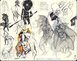 some sketchbok sketches still doing tests for fenqor u0027s design