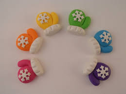 polymer clay beads or bow centers snowflake mittens 6 00 via