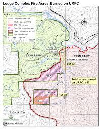 Blm Lightning Map Lodge Lightning Complex Wildfire Redwood Forest Foundation U0027s