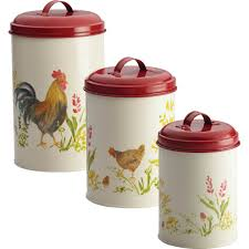 paula deen 3 pc rooster canister set canisters u0026 food storage