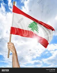 Libanese Flag Person U0027s Hand Holding Lebanese Image U0026 Photo Bigstock