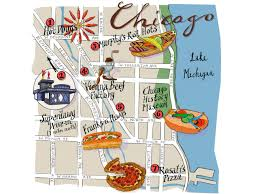 Downtown Chicago Map by Chicago Dog Guide Food Network Food Network
