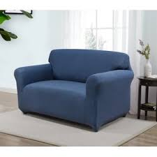 Loveseat Slipcovers With Two Cushions Loveseat Slipcovers You U0027ll Love Wayfair