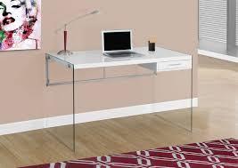 White Glass Desks by Kylie Computer Desk U2013 White The Brick