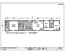 floor plan loan astro single section 14 u0027 4a114a find a home commodore homes