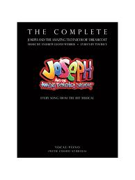 the complete joseph and the amazing technicolor dreamcoat piano