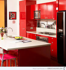 Kitchen Cupboards Design Alluring Red Kitchen Cabinets Beautifully Colorful Painted Kitchen