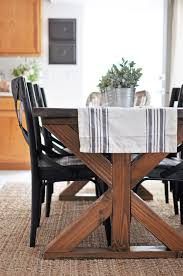 farm style wood dining table with well inspirations and kitchen