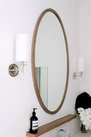 best 25 bathroom mirror lights ideas on pinterest lighted round wood oversized mirror in bathrrom
