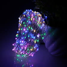 Purple Led Halloween Lights 49ft 15m 300led Silver Wires Led Fairy Lights Decoration Party
