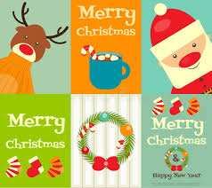 christmas posters set of christmas posters stock vector illustration of