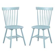 Blue Dining Room Chairs Dunner Danish Design Spindle Back Light Blue Dining Chairs Set Of