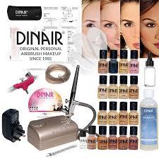 dinair studio pro set airbrush makeup kit 16pc make up set new
