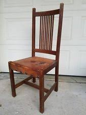 Mission Style Dining Chairs Oak Arts U0026 Crafts Mission Style Antique Furniture Ebay