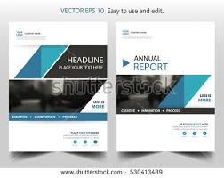 classic brochure template design blue shapes stock vector