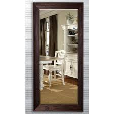 Beveled Floor Mirror by 30 75 In X 71 25 In Barnwood Brown Beveled Oversized Full Body