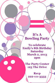 art birthday invitations 17 best bowling party birthday invitations and party favors