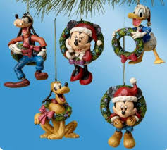 set of fab five ornaments jim shore disney traditions from our jim