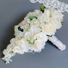 Wedding Bouquets Cheap Aliexpress Com Buy New Droplets White Wedding Bouquets For
