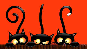 halloween background cat and pumpkin cute halloween backgrounds clipartsgram com