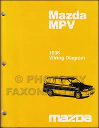 1996 mazda mpv repair shop manual original
