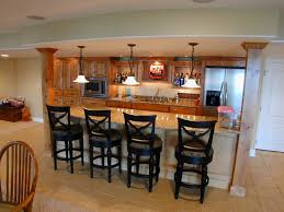 warm beige home basement bar interior designs with gorgeous tier