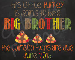 Announcing Pregnancy At Thanksgiving Twin Pregnancy Announcement Thanksgiving Themed