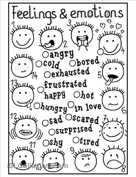 feelings and emotions matching worksheet free esl printable