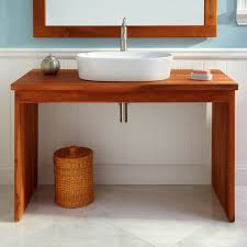 unique reclaimed wood parsons console table for bathroom design
