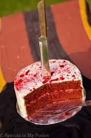 a red velvet murder spatula in my pocket