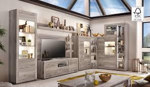 Wohnzimmer Modern Eiche Eckwand Passat Eiche Sand Günstig Online Kaufen