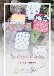 Sewing Patterns For Home Decor Making Potholders With The Cricut Maker A Free Pattern The